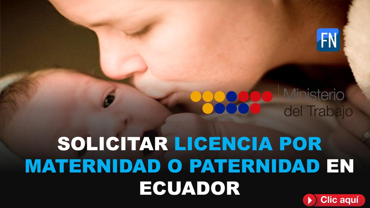 licencia de maternidad o paternidad