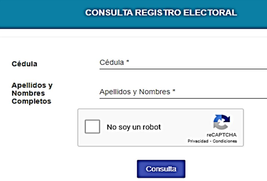 consulta registro electoral 2021