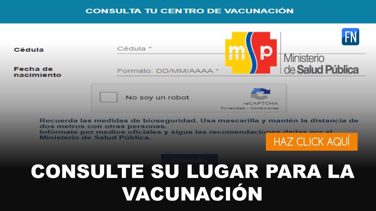 lugar de vacunación