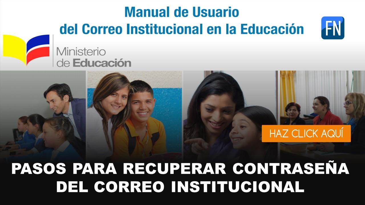 contraseña institucional educarecuador