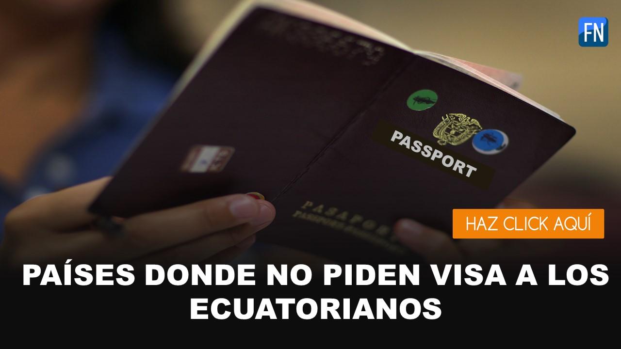 paises que no requieren visa