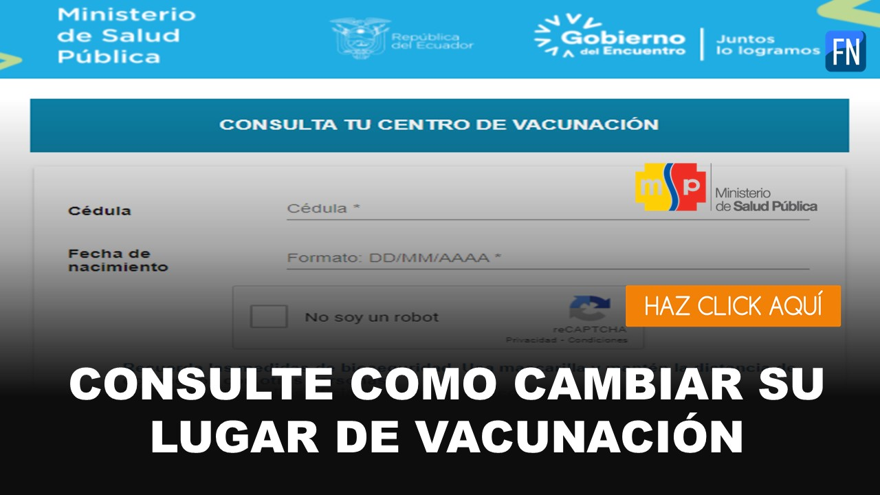 cambiar lugar de vacunación