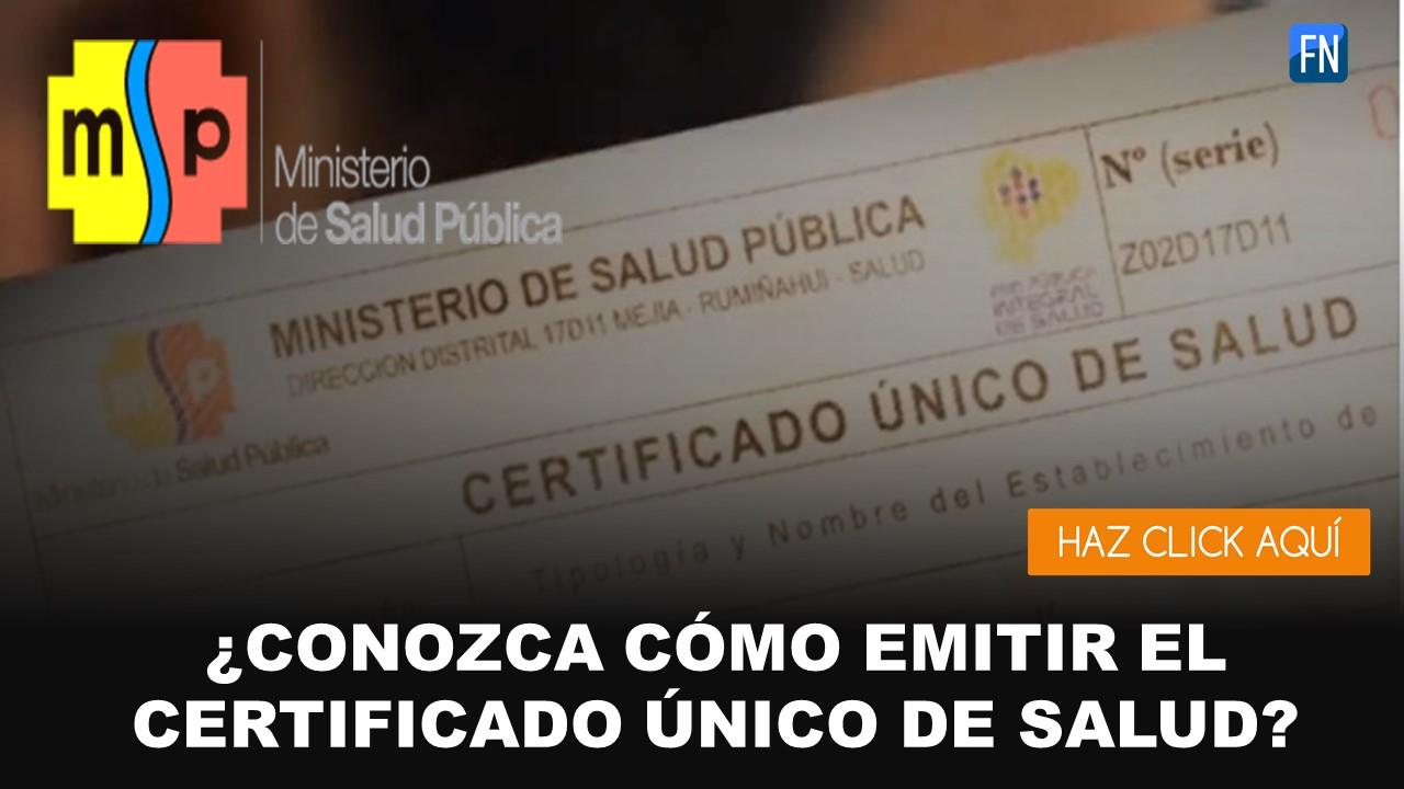 certificado unico de salud