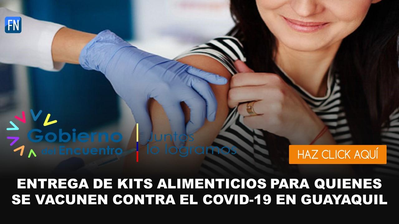 entrega de kits para quiénes se vacunen